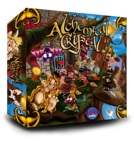 Alchemical Crystal Quest Board Game
